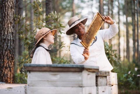 <em>The Secret Life of Bees</em> has Queen Latifah (right) playing adoptive family to Dakota Fanning in 1960s South Carolina.