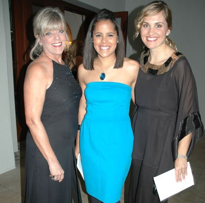 Sue Anderson, Michelle Reid and Amanda Moselle