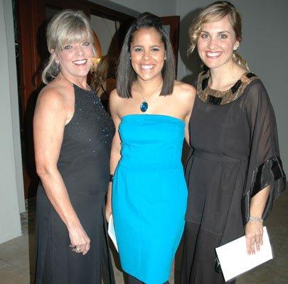 Sue Anderson, Michelle Reid and Amanda Moselle