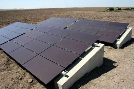 OptiSolar thin-film photovoltaic panels on the