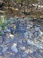 Remnants of a homestead from the late 1800s is one of the treats found in the upper canyon.