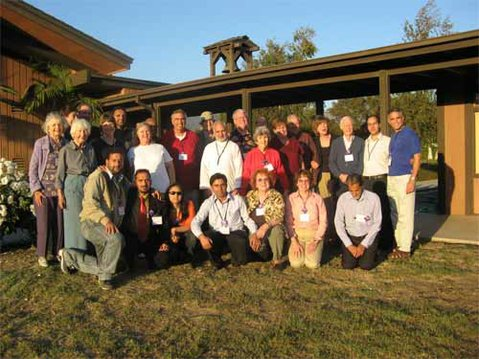 Members of Christ the King Episcopal Church stand alongside nine Kashmiris who traveled to Santa Barbara to encourage better relations between Muslims and Christians.