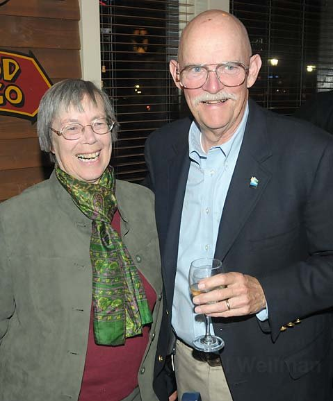 Margaret Connell and Ed Easton celebrate their Goleta city council victories in November, 2008
