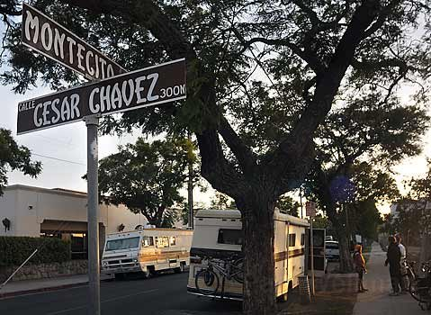Move it along:  Residents of nearby business parks asked the city to disperse a congregation of RV dwellers in this vicinity. The ordinance committee found a way to do so while rejecting a system of RV-parking bans based on neighbors' complaints.