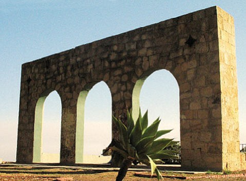 The Arches, which stood at the Tea Gardens, as they looked this summer.
