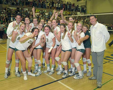Santa Barbara High School Girls Volleyball team, CIF Division I-A Champions