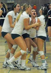 Santa Barbara High School&#39;s volleyball team triumphed over Dos Pueblos in the CIF Southern Section Division 1A championship match.