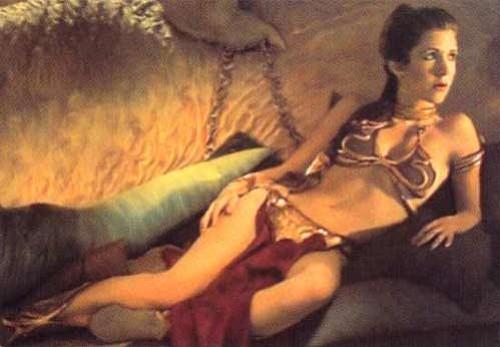 Princess Leia's famous gold bikini.