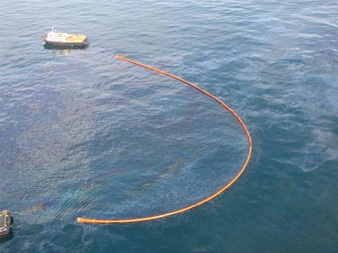 Platform A oil spill.