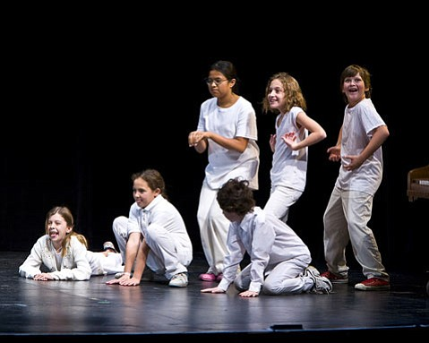 Children from Hope School, Monte Vista School, Washington School, and Girls Inc. of Carpinteria were the creators and performers of Boxtales' <em>The Ages</em>, which is based on the lives of their own grandparents.