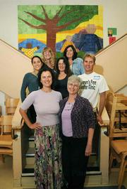 The staff of the Women's Free Shelter Clinic, which opened for business on December 12.