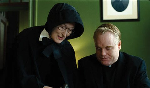 Doubt's Meryl Streep and Philip Seymour Hoffman.