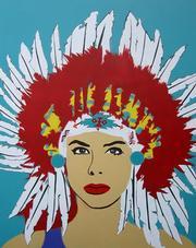 "Wallace Piatt's ""Gina Painting."""