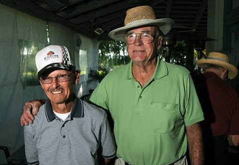 "Don Warner (left) introduced Bob Chilcott (right) to golf. ""Bob was fiery when he was younger,"" said Warner. ""It steamed him to miss a shot."""