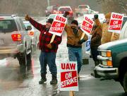 UAW members strike in more recent times.