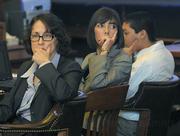 L to R defense attorneys Karen Atkins, Jennifer Archer, and  defendant Ricardo Juarez during sentencing