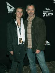 The writer for the 2008 film Skin, Helen Crawley (left), and the movie's director Anthony Fabian