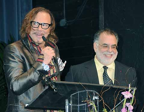 Mickey Rourke and Francis Ford Coppola