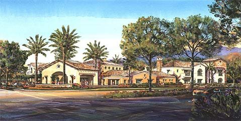 Rendering of the Camino Real Hotel
