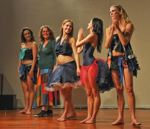 Robin Bisio and a group of Santa Barbara dancers, filmmakers, digital artists and musicians put on a performance during the Film Festival.