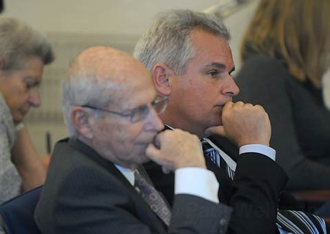 Steve Pappas (right) with legal counsel Stanley Green.