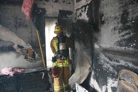 I.V. Firefighters responded at 11:58 a.m. on Sunday, February 8, to a 911 call regarding a structure fire in a two-story single-family residence in Isla Vista.