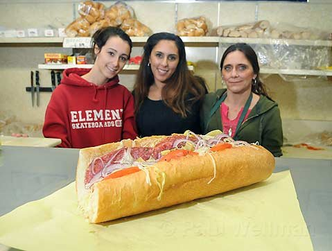 From left: Michelle, Emily, and Laura of the Italian Grocery.