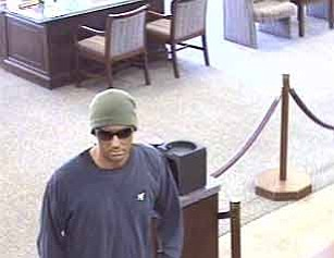 Security footage of the man who robbed the Calle Real Rabobank on February 27.