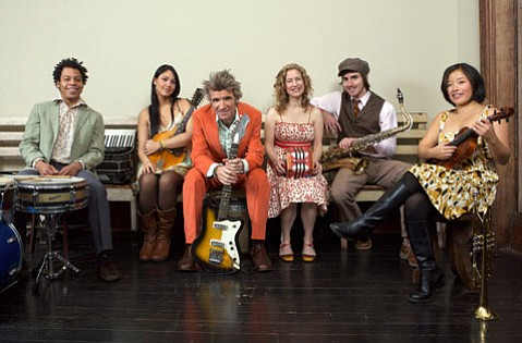 Dan Zanes (center with guitar) and Friends.