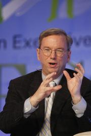 Eric Schmidt, CEO of Google, discusses his company's proposed national energy plan at ECO:nomics.