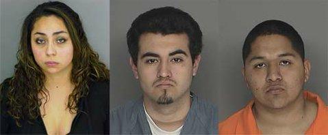 Left to right: Paloma Elizabeth Rodriguez, 18-year-old Roy Sarabia, and 20-year-old Isaac Isidoro Saldana.