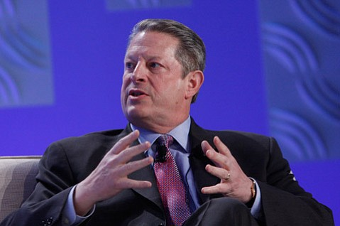 Al Gore, Chairman, Alliance for Climate Protection. Corporate executives gathering to talk about how their companies can be eco friendly in this economy at the Bacara Resort, in Santa Barbara, California, on March 5, 2009.