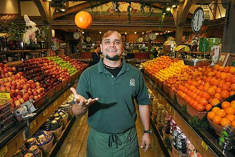 Lazy Acres Produce Manager Fernando Brito Macias