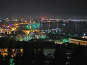 Azerbaijan&#39;s capital city of Baku, at night