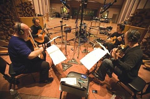 From left: Scott Tennant, William Kanengiser, Matthew Greif, and John Dearman of the Los Angeles Guitar Quartet.