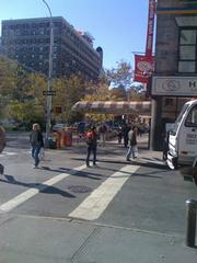 The view from Zabar's.