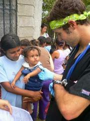 Pictured: Global Medical Brigades member Daniel Mizrahi during a visit to Honduras.