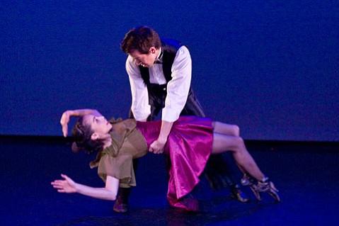 "Felicia Guzman and Jekyns Pelaez, dancing Liz Skalski's ""Midnight Tango."""