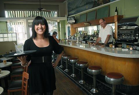 Paradise Cafe cocktail waitress Megan Moore.