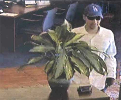 Surveillance photo of the man who robbed Montecito Bank on Calle Real on March 25.