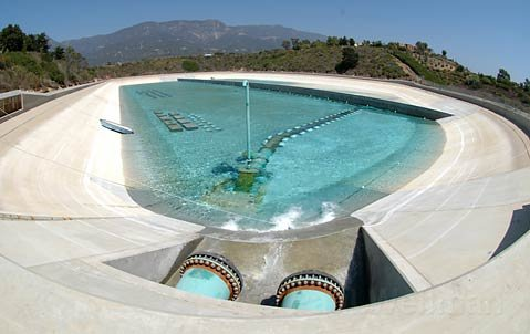 Carpinteria Valley Water District's Ortega Reservoir before the $17 million project to add a cover