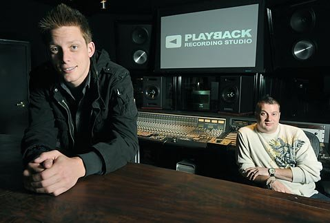 Singer/songwriter Orlando Napier (left) is just one of many Santa Barbara music makers hard at work at Tucker Bodine's (right) cutting-edge Playback Recording Studio.