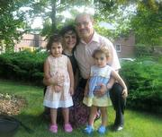 Hanna Massad and his wife, Sahud, with children Joyce (left) and Jolene.