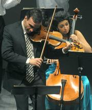 Gil Shaham and Ani Aznavoorian performed at Campbell Hall last Sunday.