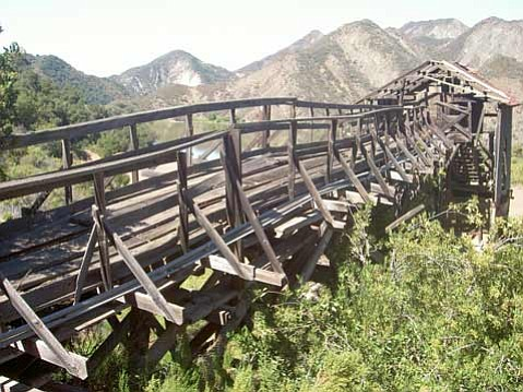 Abandoned and odd mining equipment can be found at the old Sunbird Quicksilver Mine.