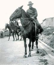 Gaucho tradition eventually reached the Falkland Islands, which is where this man is wearing traditional gear in 1936.