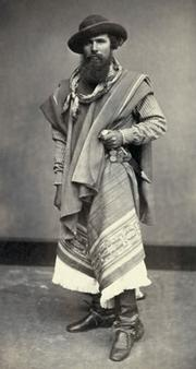 This gaucho from Argentina stood for a portrait in a Peruvian studio in 1868.