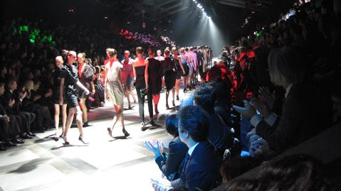 Lanvin models take a victory lap.