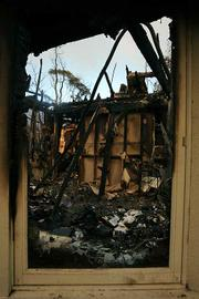 The remains of a home on Orange Grove Ave.