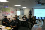 Fire division in the Santa Barbara's Emergency Operations Center (EOC)